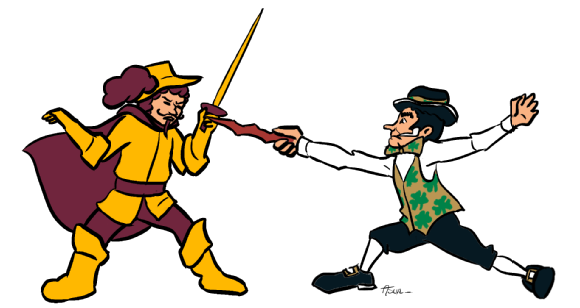 Cavs-Celtics Matchup Illo