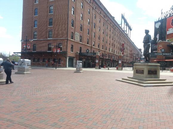 Empty Camden Yards entrance
