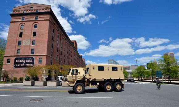 National Guard Vehicle  outside Camden Yards
