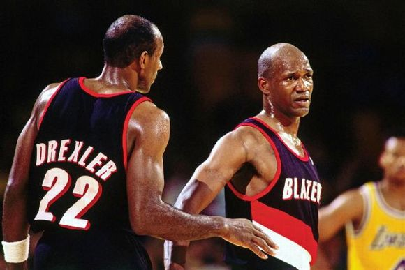 Clyde Drexler and Terry Porter
