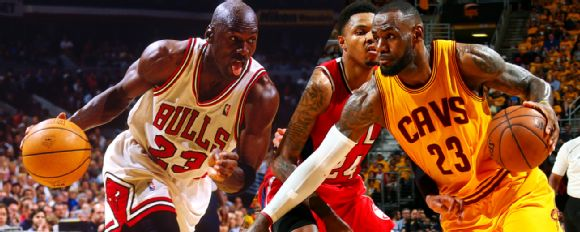 Michael Jordan, LeBron James