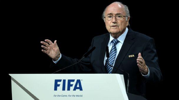 Joseph Sepp Blatter talks at the FIFA Congress
