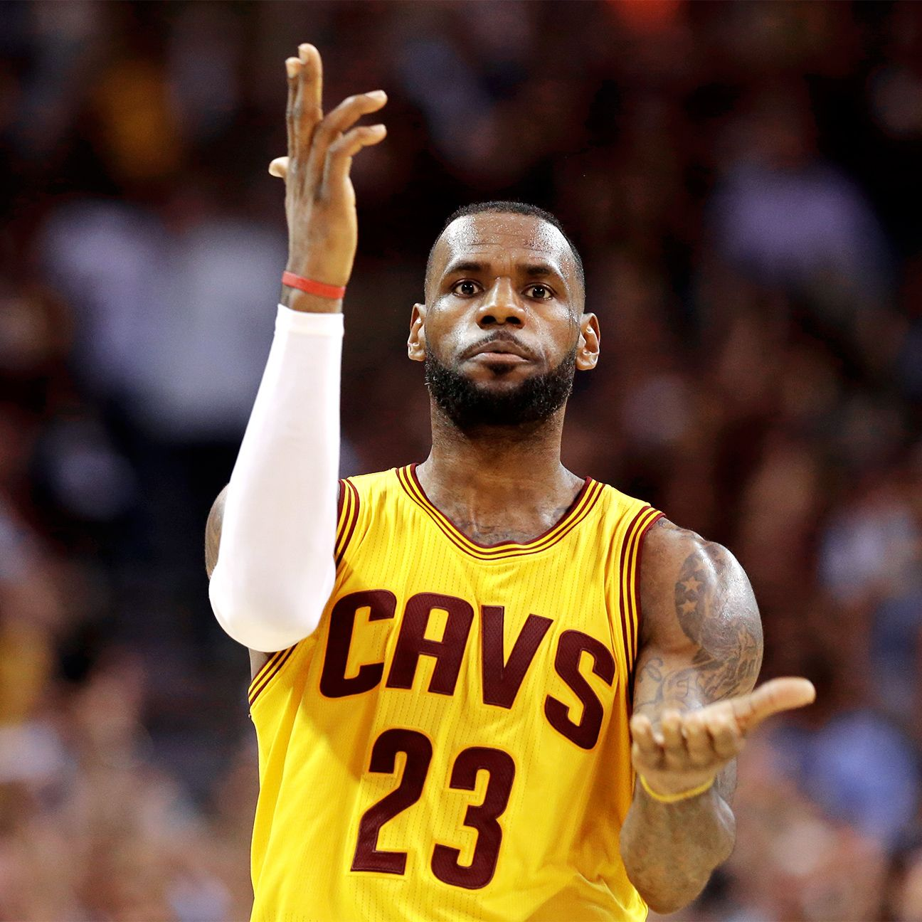 2015 NBA playoffs: LeBron James' gun celebration off the mark