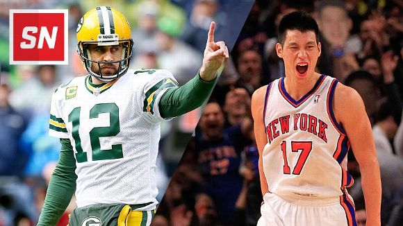 Aaron Rodgers and Jeremy Lin