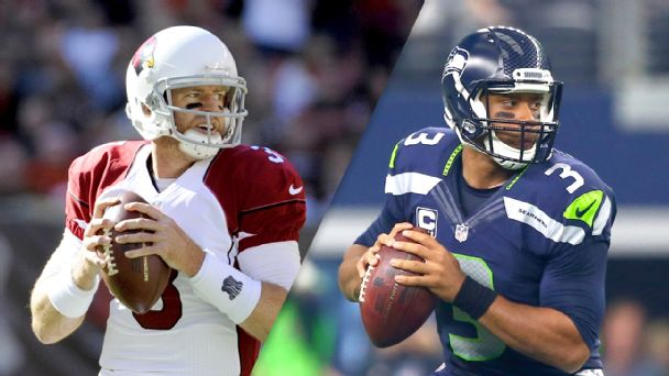 Carson Palmer and Russell Wilson