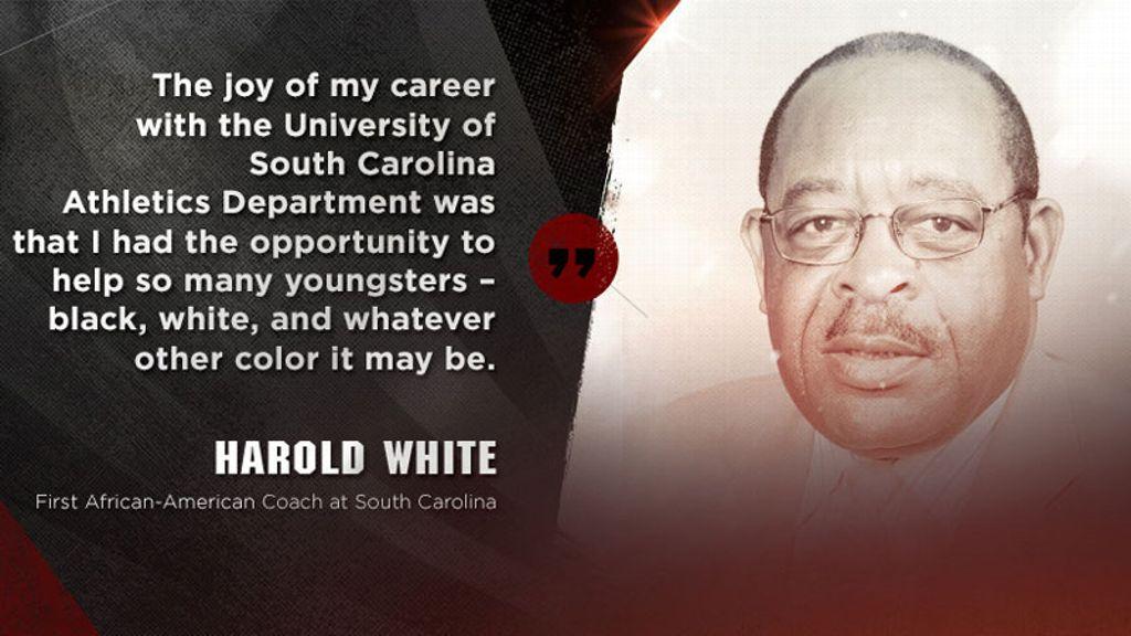 White a pioneer for South Carolina