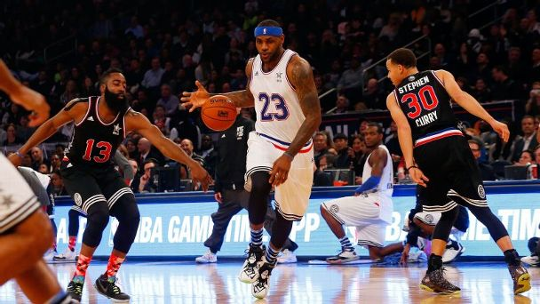 LeBron James and Stephen Curry (2015 NBA All-Star Game)