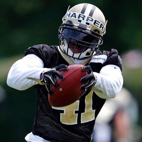 NFL Jersey's Men's New Orleans Saints Roman Harper Pro Line Black Player Jersey