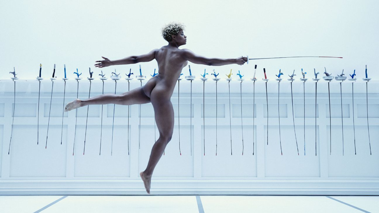 Nzingha Prescod, olympics, fencing, featured in the Body Issue 2016: Fully Exposed on ESPN the Magazine
