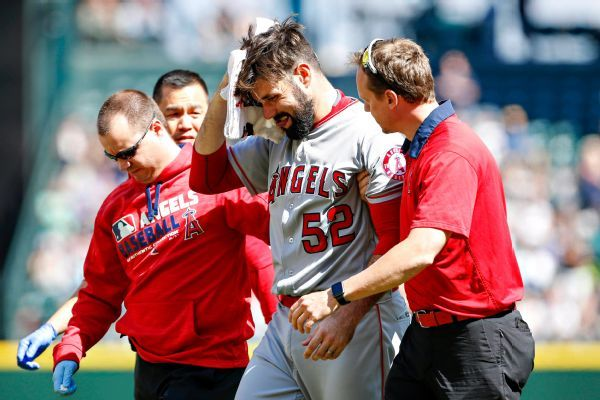 Buchanan usa today sports matt shoemaker gets helped off the field
