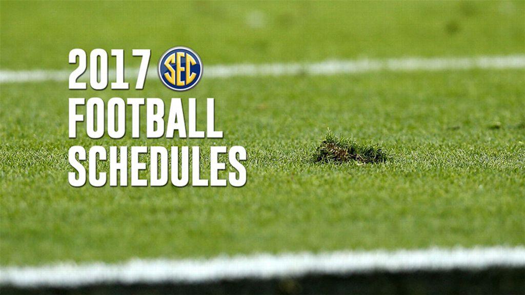 SEC releases 2017 football schedule