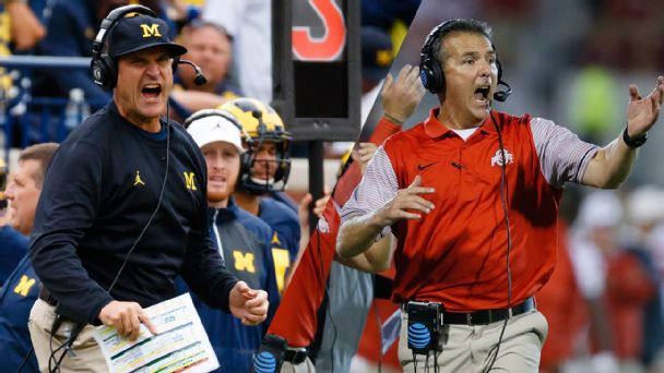 Jim Harbaugh and Urban Meyer