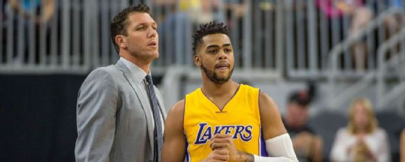 Luke Walton and D'Angelo Russell