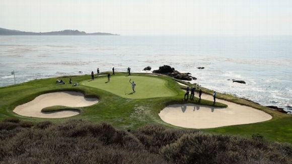 Seventh green at Pebble Beach Golf Links