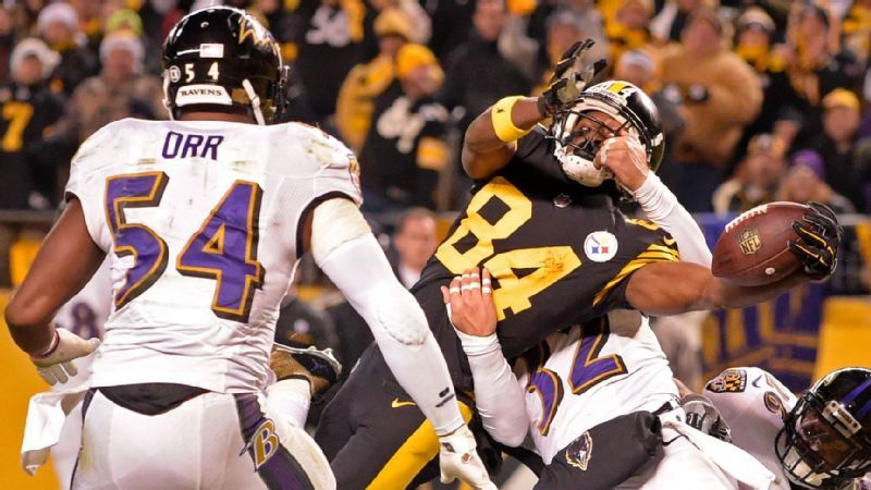 Antonio Brown, Zach Orr, Steelers vs Ravens, Steelers 2016 season defining moments, antonio brown christmas touchdown ravens