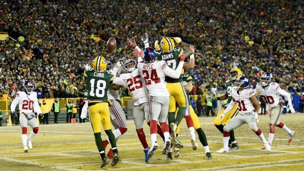 Randall Cobb catches Hail Mary vs. Giants
