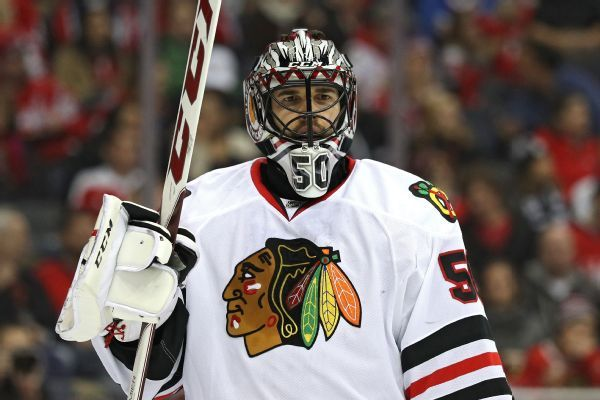 Corey Crawford unlikely to be ready for Blackhawks' season opener