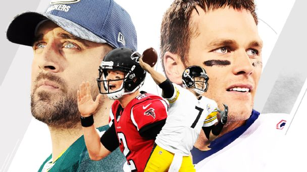 Aaron Rodgers, Matt Ryan, Ben Roethlisberger and Tom Brady