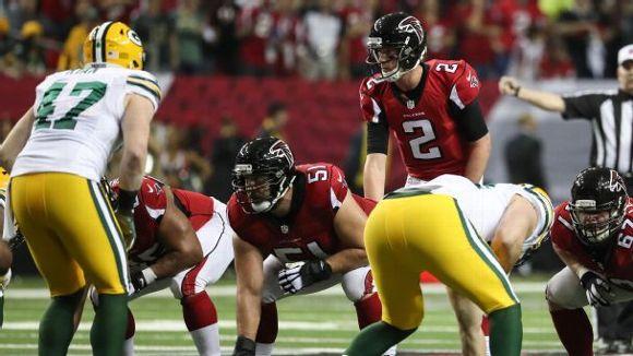 Matt Ryan and Alex Mack (vs. Packers)