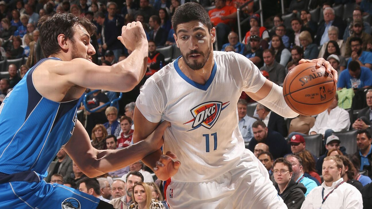 enes kanter of oklahoma city thunder fractures right