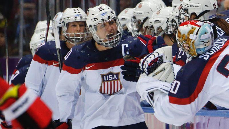 Meghan Duggan. AP Photo Mark Humphrey. U.S. captain Meghan Duggan and her  women s national hockey teammates plan to sit out of the world championships  ... 034acc4e5