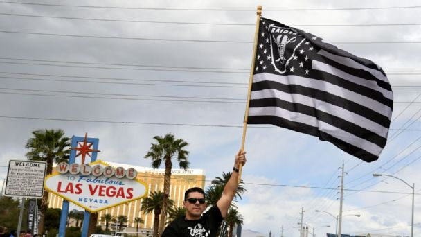 Raiders fan in Las Vegas