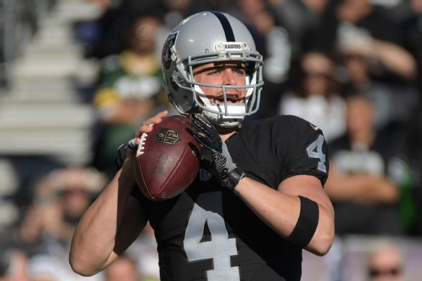 Derek Carr says he loves playing for Raiders even though not 'popular' to be one right now