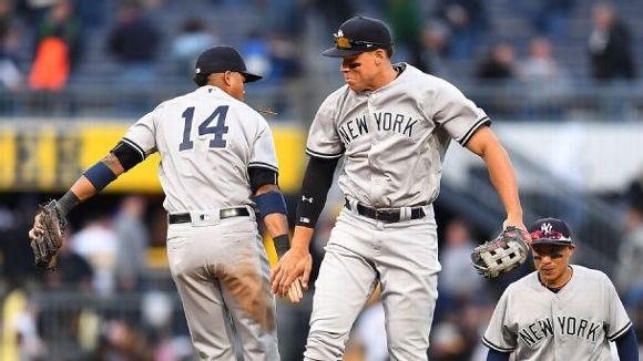Judge, Yankees celebrating