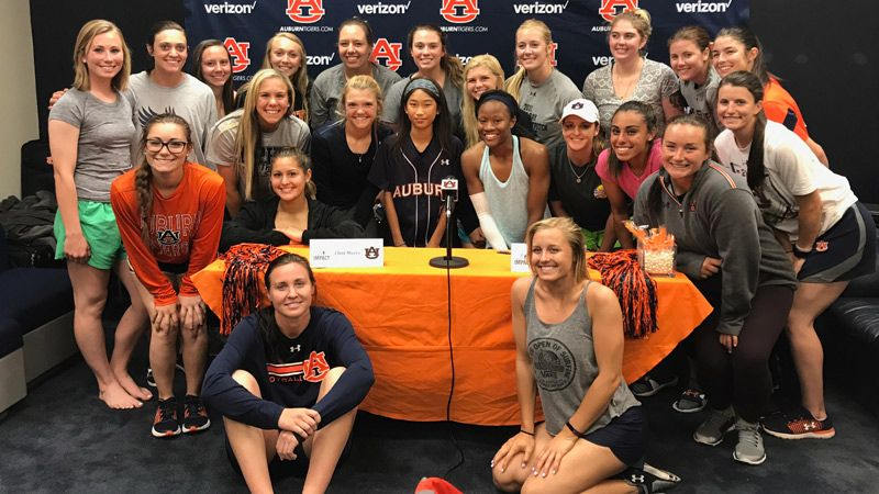 Auburn partners with Team IMPACT to sign An-Mei Ellisor