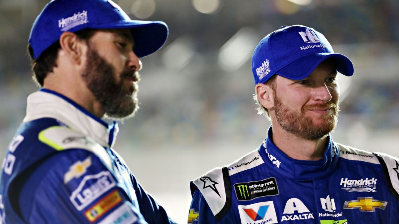 Nascar How Teammates Jimmie Johnson And Dale Earnhardt Jr Made A Mess Sunday