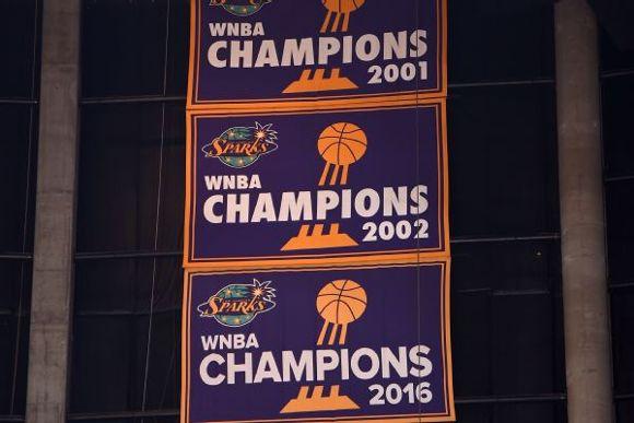 Los Angeles Sparks WNBA championship banner