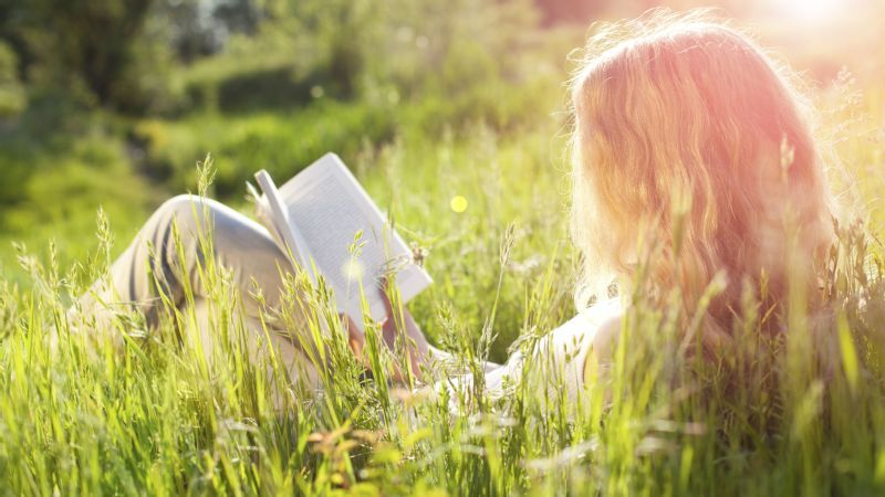 Image result for girl in nature reading