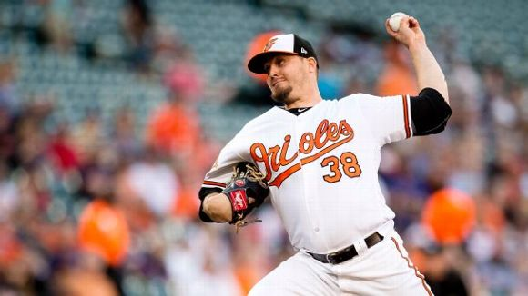 Baltimore Orioles starting pitcher Wade Miley