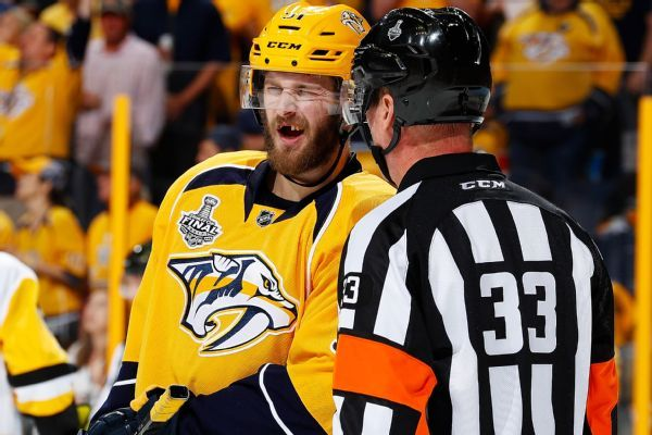 Predators' Austin Watson charged with domestic violence