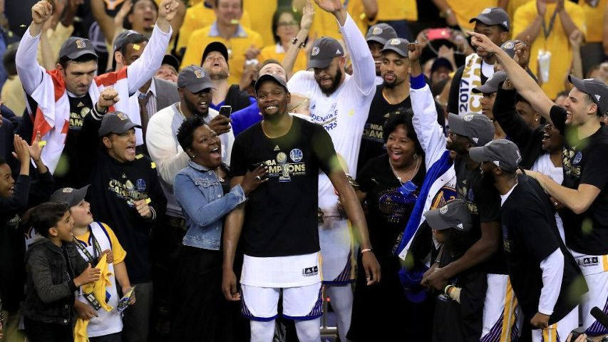 968d262d66e Wanda Durant on her son Kevin Durant s NBA championship  He s  the ...
