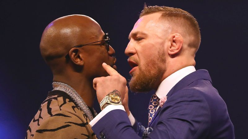 Image result for floyd and conor trash talk