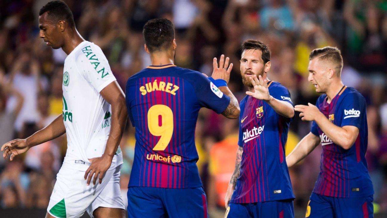 Barcelona cruise to Joan Gamper Trophy victory vs. Chapecoense
