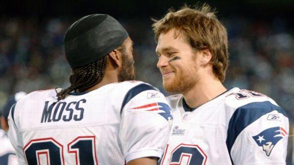 Randy Moss and Tom Brady