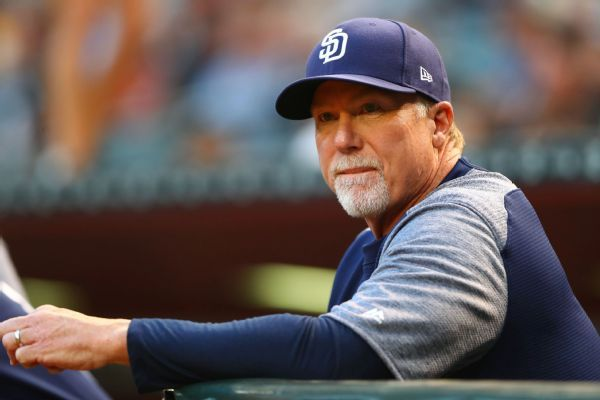 Mark McGwire not returning as Padres' coach to spend time with family