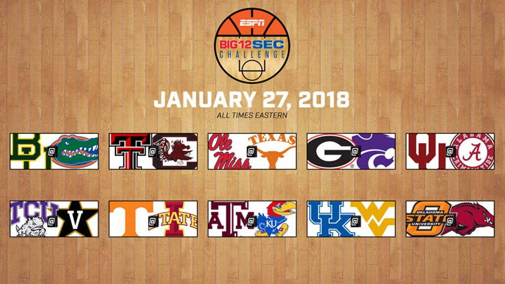 2018 Big 12/SEC Challenge TV schedule set