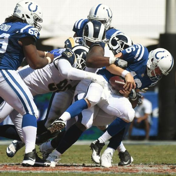Colts vs. Rams (Scott Tolzien sacked )