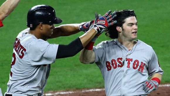 Celebrating Red Sox