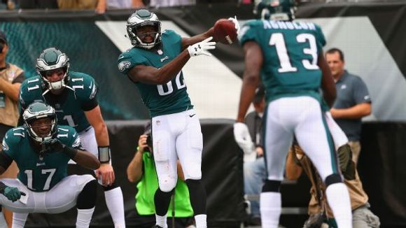 Torrey Smith, Philadelphia Eagles, touchdown celebration, 2017
