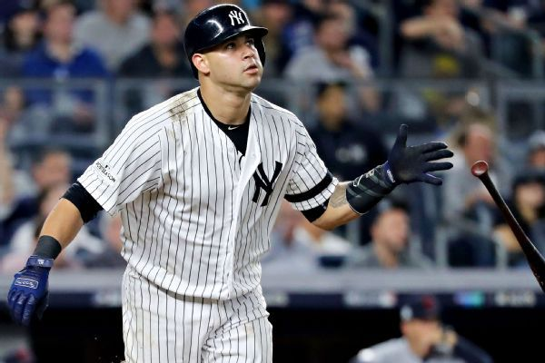 Yankees put Gary Sanchez on DL, Austin Romine to take over behind plate