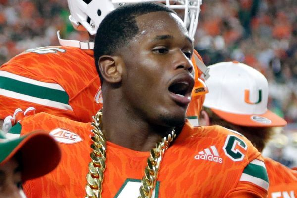 Injuries sideline Hurricane's Jaquan Johnson and receiver Ahmmon Richards for FIU game