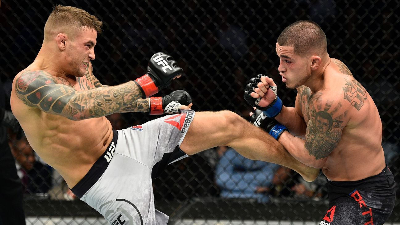 Dustin Poirier finishes Anthony Pettis at UFC Fight Night, calls out Justin Gaethje-Eddie ...