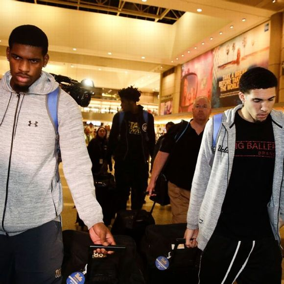 LiAngelo Ball, Cody Riley and Jalen Hill