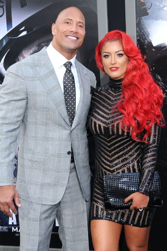 The Rock and Eva Marie