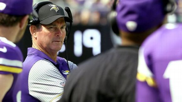 Head coach Mike Zimmer of the Minnesota Vikings