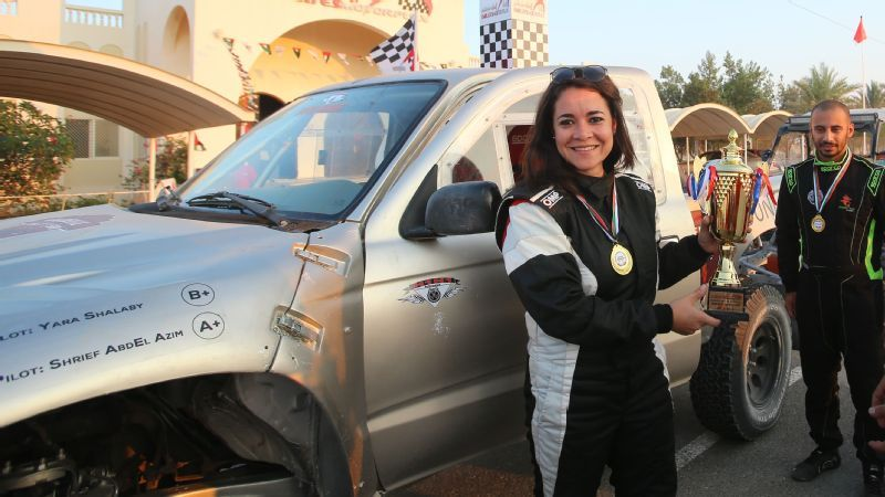 Yara Shalaby is the only female rally driver in Egypt -- and in just a few years of racing she's racked up impressive results, including first in the amateur category at the 2015 Motorplex Solo Race UAE.